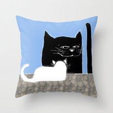 Frisky the Cat Throw Pillow