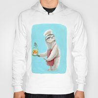 """sloths Hoodies featuring Sloths Are Bad At Things- Henri the Chef! by Megan """"Tillette"""" Jones"""