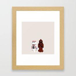 JAWA & R2D4 Framed Art Print