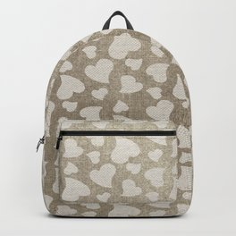 Canvas Design with Heart Shapes and a Great Texture Backpack