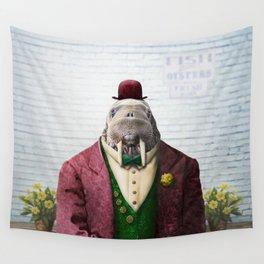 Portrait of Wendell Walrus Wall Tapestry