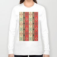 blanket Long Sleeve T-shirts featuring Sioux Blanket by Robin Curtiss