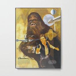 Star Chewbacca Wars Metal Print