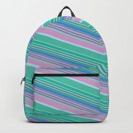 Jewel Tone Diagonal Stripes Backpack