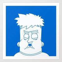 my mad fat diary Art Prints featuring Fat Kid by Jonas Pelzer