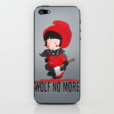 Wolf No More.Little Red Riding Hood iPhone & iPod Skin