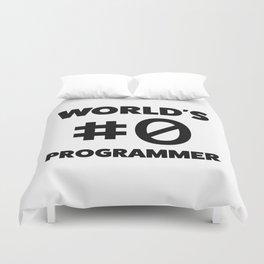 World's #0 programmer Duvet Cover
