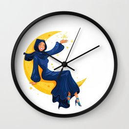 Lady on the Moon Wall Clock