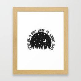 Under the Blinking Stars Framed Art Print