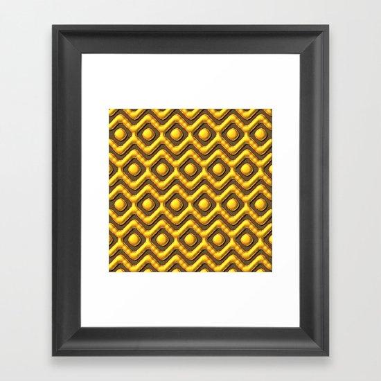 Liquid Gold Pattern Framed Art Print