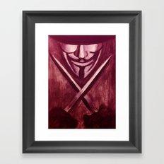 RED for VENDETTA Framed Art Print