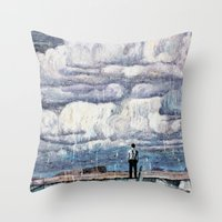 depression Throw Pillows featuring Depression by Rothko