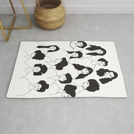 Ladies and antique hairstyles Rug