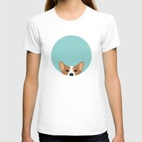 corgi T-shirts featuring Corgi by Anne Was Here