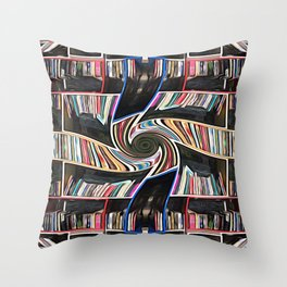 Hall of the Akashic Library Throw Pillow