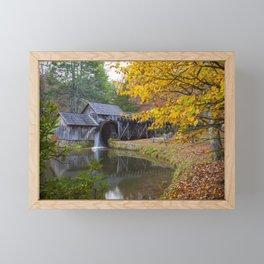 Rustic Mill in Autumn Framed Mini Art Print