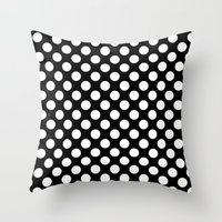 polka dots Throw Pillows featuring Polka Dots by Kings in Plaid