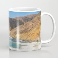 big sur Mugs featuring Big Sur Blue by Jenndalyn