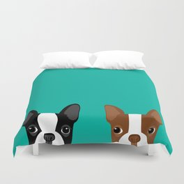 Boston Terriers Duvet Cover