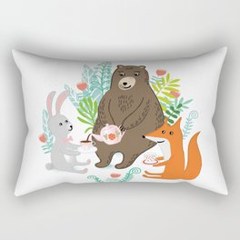 woodland tea party Rectangular Pillow