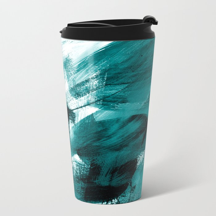 Abstract Artwork Petrol #1 Metal Travel Mug