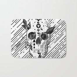 Abstract Skull B&W Bath Mat
