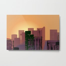 Sunset over San Francisco Metal Print