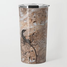 Lizard Rock Colorized Reptile / Animal / Wildlife Photograph Travel Mug