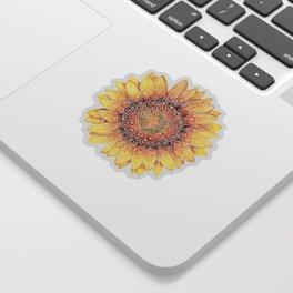 Swirly Sunflower Sticker