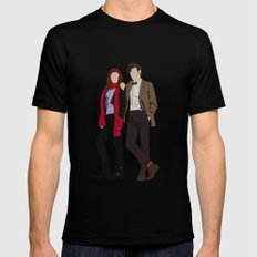 Matt Smith as Dr Who and Karen Gillan as Amy Pond Black Mens Fitted Tee MEDIUM