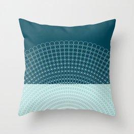 Geometric Blue Skys Throw Pillow