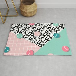 Tennis Pattern #society6 #decor #buyart Rug