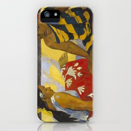 Parau Api / What's news? by Paul Gauguin iPhone Case
