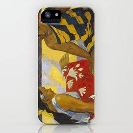 Parau Api / What's news? by Paul Gauguin iPhone Case