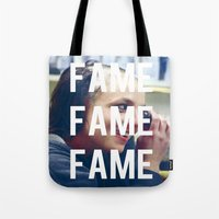 britney spears Tote Bags featuring FAME - BRITNEY SPEARS by Beauty Killer Art