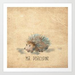 Mr. Porcupine Art Print