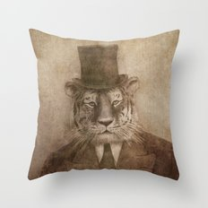 Sir Tiger Throw Pillow