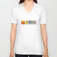 terry fan V-neck T-shirts featuring Fan by Bakal Evgeny