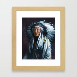 American Indian Chief Framed Art Print