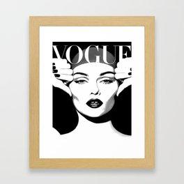 VOGUE FASHION COVER,Vogue Posters,Vogue Prints,Vogue Patterns,Black And White,Fashion Decor,Modern H Framed Art Print