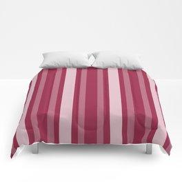 Raspberry Victorian Lady Stripe Comforters