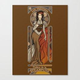 Steampunk Nouveau- Brown Canvas Print