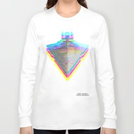 Star Destroyer Star Glitch Wars Long Sleeve T-shirt