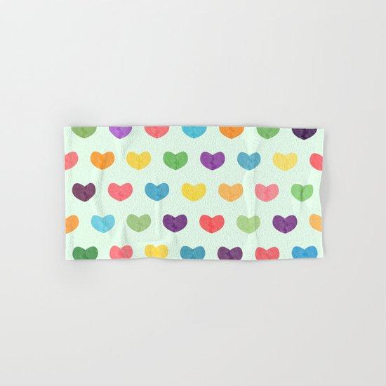 Colorful hearts Hand & Bath Towel