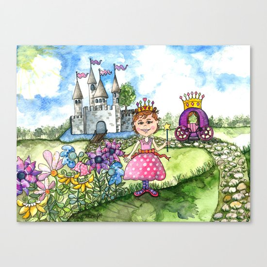 The Polka Dot Princess Canvas Print