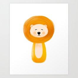 Lion, Nursery Art Art Print