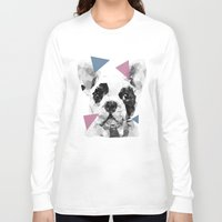frenchie Long Sleeve T-shirts featuring Frenchie by Esco