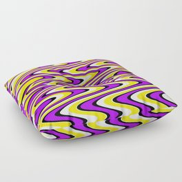 Purple gold white and black slur Floor Pillow