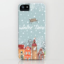 winter time iPhone Case