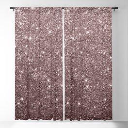 Modern mauve burgundy rose gold glitter Blackout Curtain